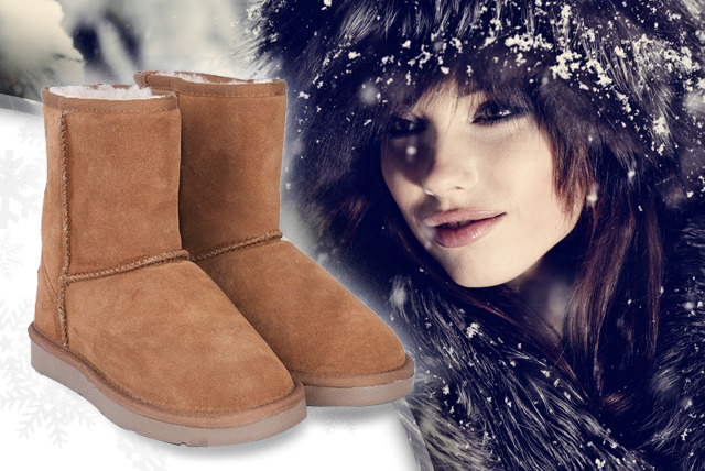 £23.99 instead of £85.99 (from Posh Treat) for a pair of light or dark brown coloured Australian snow boots - save 72%