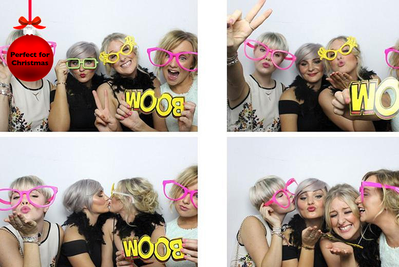 £249 instead of £399 for 4 hours of photobooth hire inc. 'unlimited' prints from Photobooth Express - save 38%