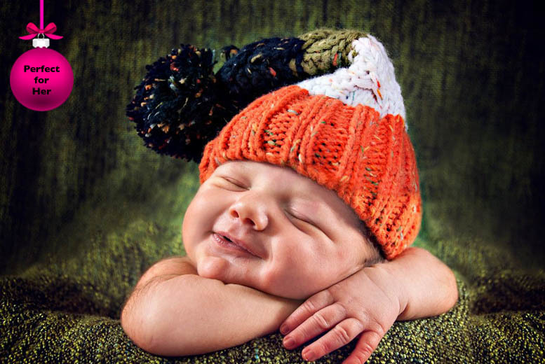 £10 instead of £135 for a newborn baby photoshoot and 11 prints from Lauren Chypree Photography, Rothwell - save 93%