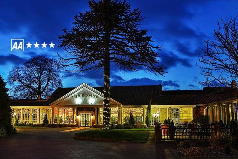 £99 instead of up to £165 (at The Bridge Hotel & Spa) for a 1-night break for 2 inc. a 5-course carvery dinner, afternoon tea and breakfast - save up to 40%