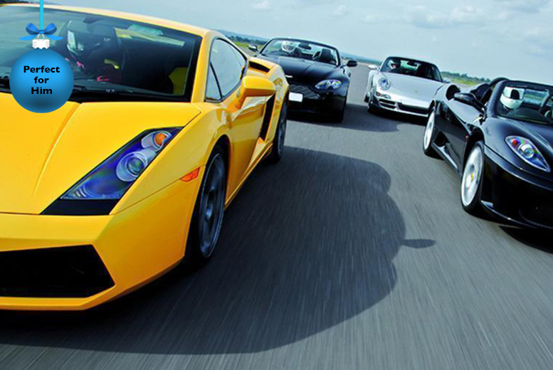 £39 for a supercar driving blast experience including a passenger lap at a choice of 5 UK locations from Buyagift!