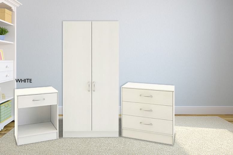 £89 instead of £299 (from Mattress Shed) for a 3-piece bedroom furniture set in a choice of 4 designs - save 70%