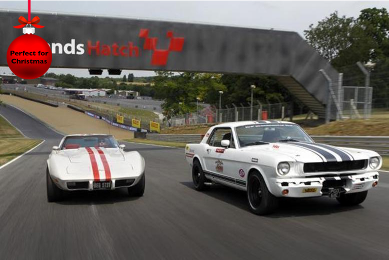 £99 instead of £199.99 for a 6-mile Mustang experience at Brands Hatch, Goodwood or Rockingham with Classic American Muscle - save 50%