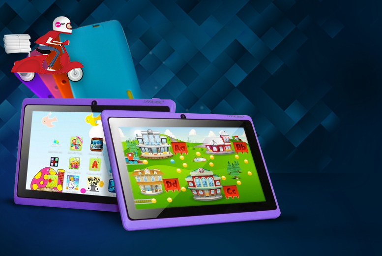 £32.99 instead of £109.99 (from Chimp Electronics) for a kids' 7-inch Google Android 4.4 netbook tablet - choose from 4 colours and save 70%