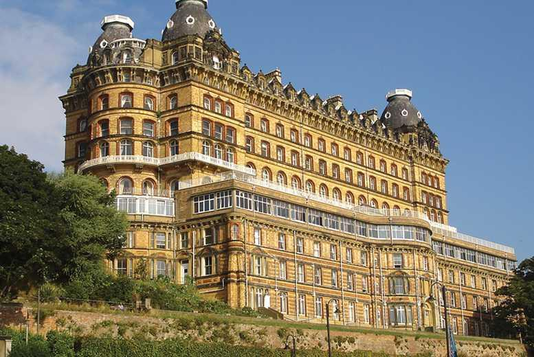 £49 for an overnight Scarborough stay for 2 inc. dinner, wine, breakfast and late checkout, £89 for 2 nights at Britannia Grand Hotel - save up to 34%