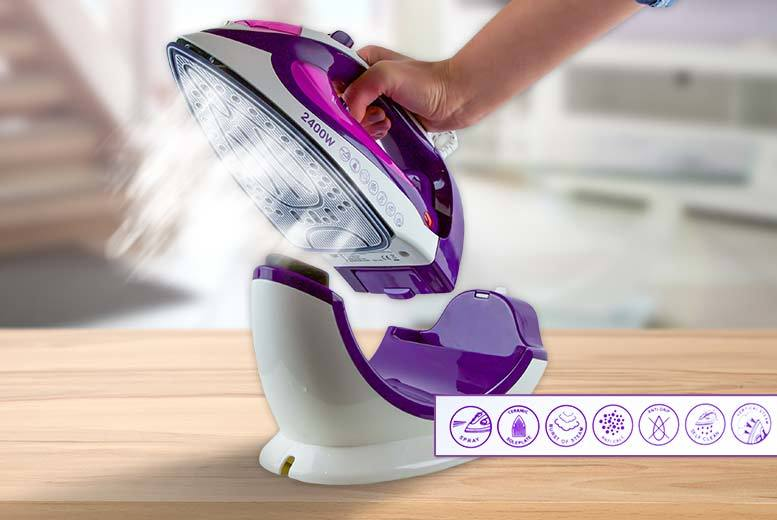 Groundlevel Cordless and Corded 2400W Steam Iron (Purple)