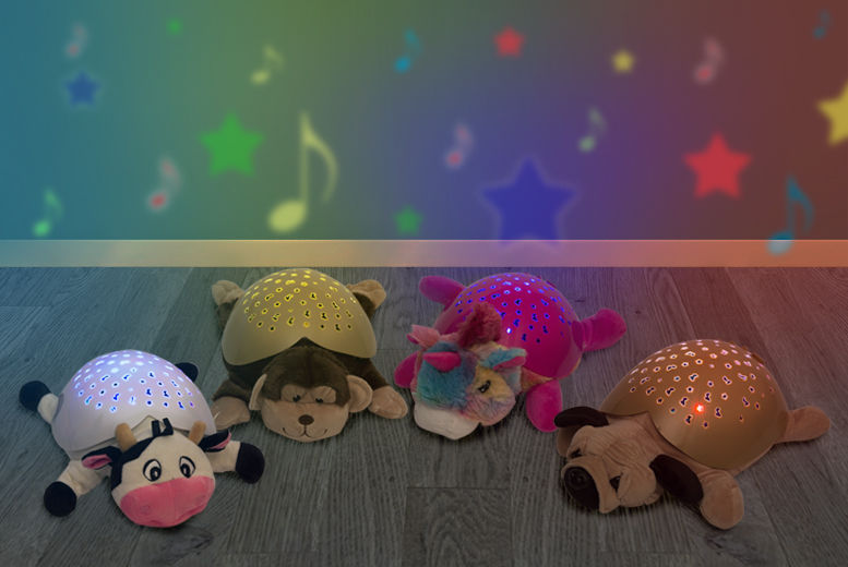 £9.99 instead of £19.99 for a furry friend night light shining as a cow, dog, monkey or unicorn from Ckent Ltd - save 50%