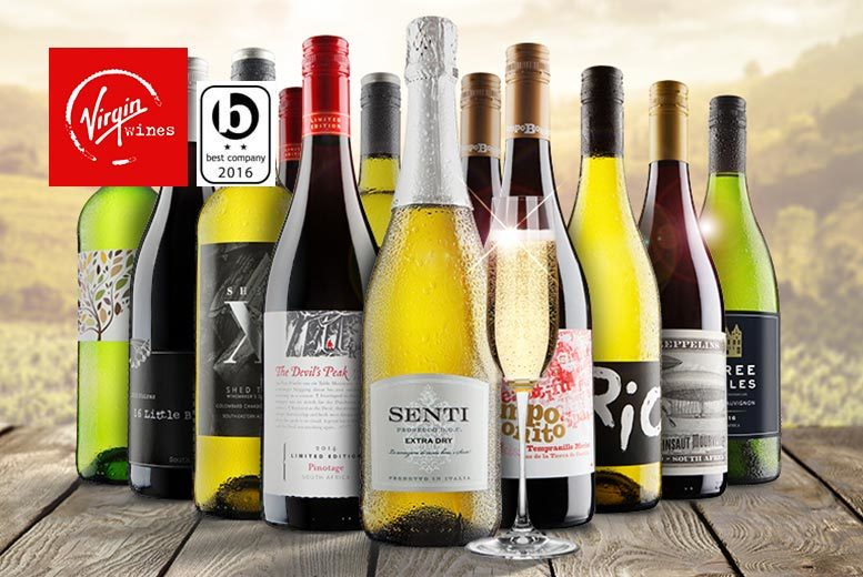 £24.99 (from Virgin Wines) for a six-bottle selection of hand-crafted boutique wine, £45 for a 12-bottle selection with Prosecco - save up to 58%