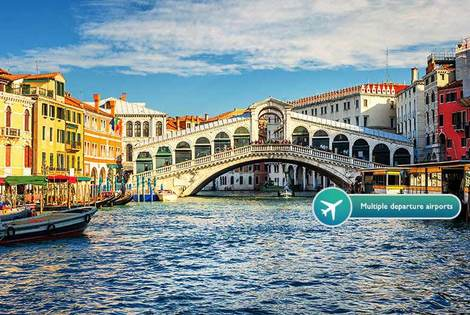 From £139pp for a two-night Venice and two-night Florence escape with breakfast, flights and trains, from £219pp for three nights in both - save up to 39%