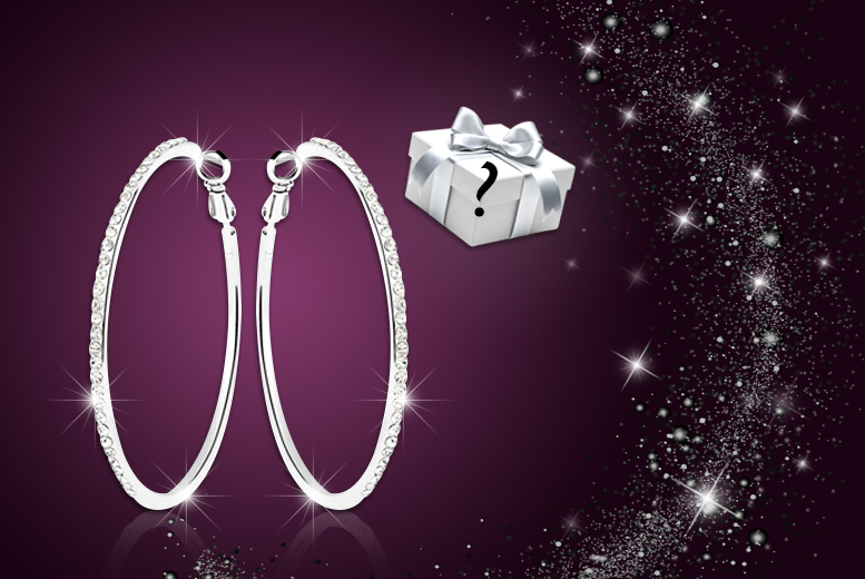 £10 instead of £74.99 (from My Boutique Store) for a pair of crystal hoop earrings made with Swarovski Elements plus a mystery gift - save 87%