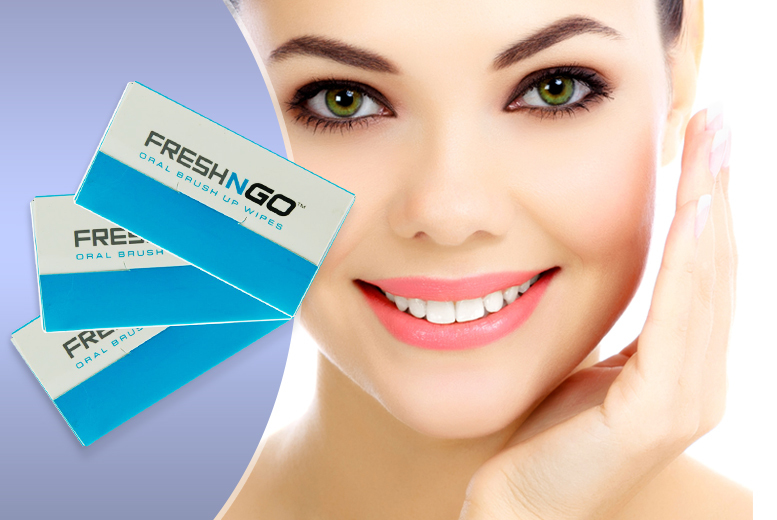 £5 instead of £15 (from DVA Beautique) for three packs of 10 FreshNGo oral brush up wipes - stay fresh on the go & save 67%