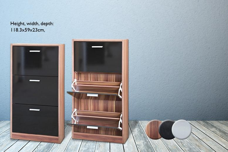 £79.99 instead of £194.01 (from D Furniture Store) for a three-drawer shoe rack cabinet - save 59%
