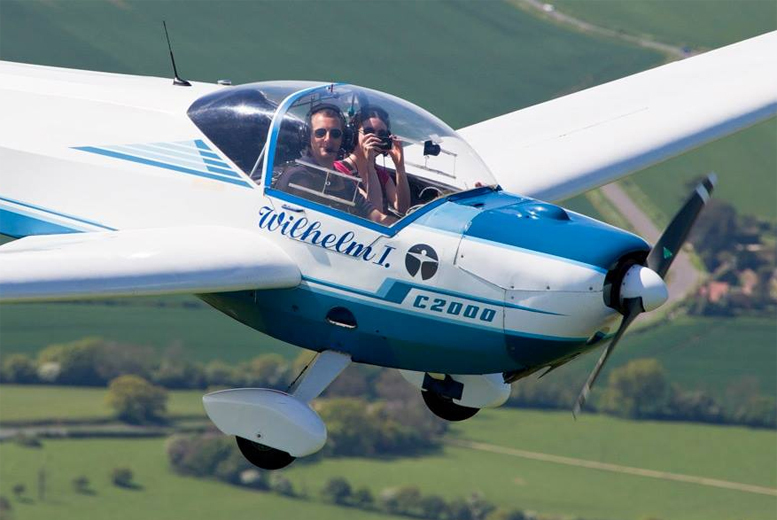 £59 for a 1-hour introductory flying experience with 15-minutes of flight time, or £79 with 30-minutes of flight time at Motorglide - save up to 55%