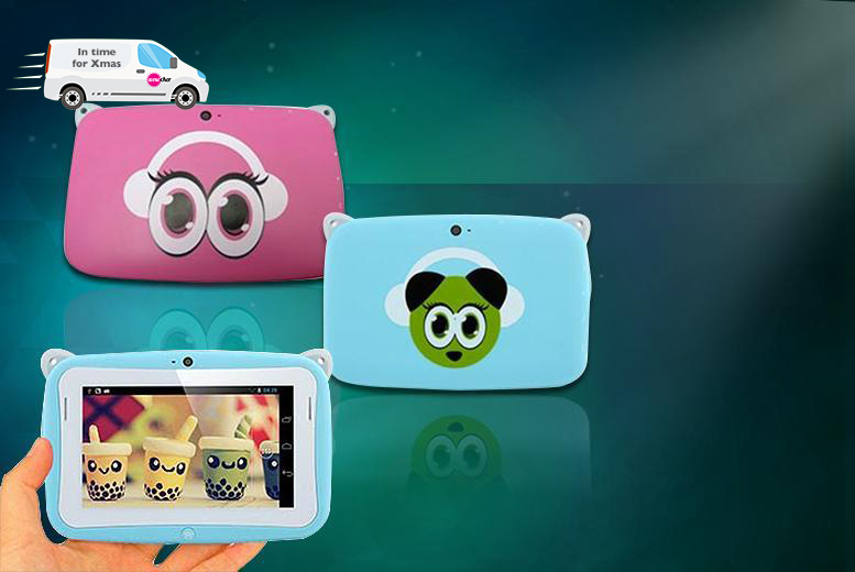£19.99 instead of £97.98 (from Rock-a-by Baby) for a children's Android panda tablet - choose from 2 colours and save 80%