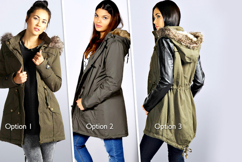 £26 instead of up to £89 (from Nothing New 2 Wear) for a military-style parka jacket - choose from 3 designs and save up to 71%