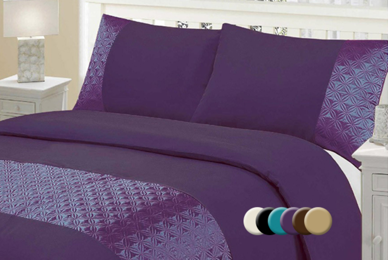 £12.99 (from Groundlevel.co.uk) for a single quilted circles duvet set, £16 for a double, £18.99 for king or £20 for a super king - save up to 68%