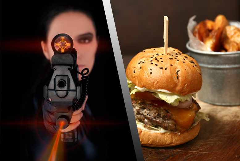 £12 instead of up to £26.20 for 2 games of laser tag for 2 inc. lunch and a soft drink each, or £19 for 4 games at The Zone, Motherwell - save up to 54%