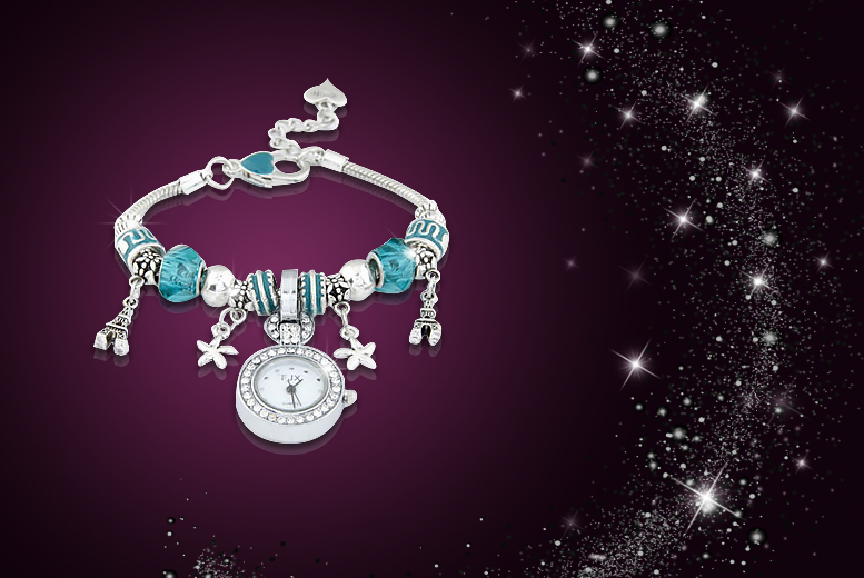 £9 instead of £44.99 (from Boni Caro) for a diamanté watch with bead detailing - choose from 2 colours & save 80%