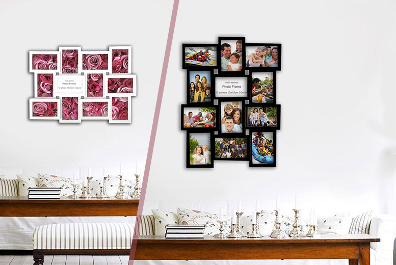 £12.98 instead of £29.99 for a 12-photo collage frame in white or black from Wowcher Direct - save 57%