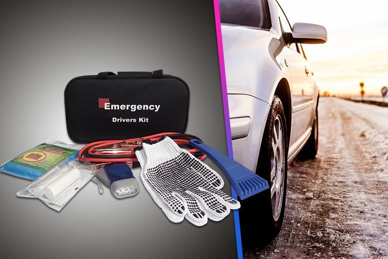 £9.99 instead of £34.22 (from BGSL) for a 5-piece emergency car kit including jump start cables, first aid kit & more - save 71%