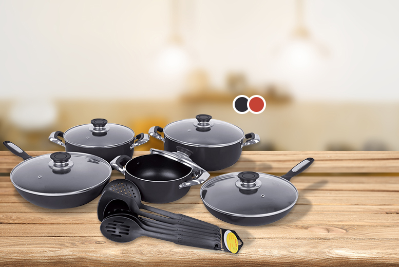 £34.99 instead of £94 for a 16-piece non-stick ceramic cookware set from Wowcher Direct - save 63%