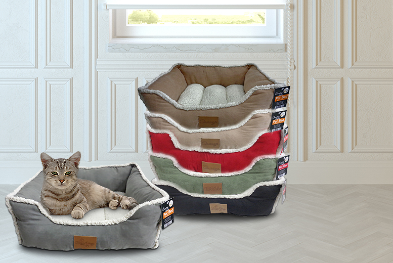 £12.99 instead of £39.99 (from Groundlevel.co.uk) for a thick pet bed with a fleece lining - save 68% + DELIVERY INCLUDED