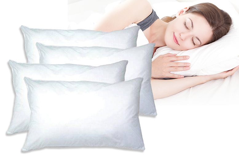 £12.99 instead of £66.50 (from Love 2 Sleep) for four luxury super bounce-back pillows and four pillow protectors - save 80%