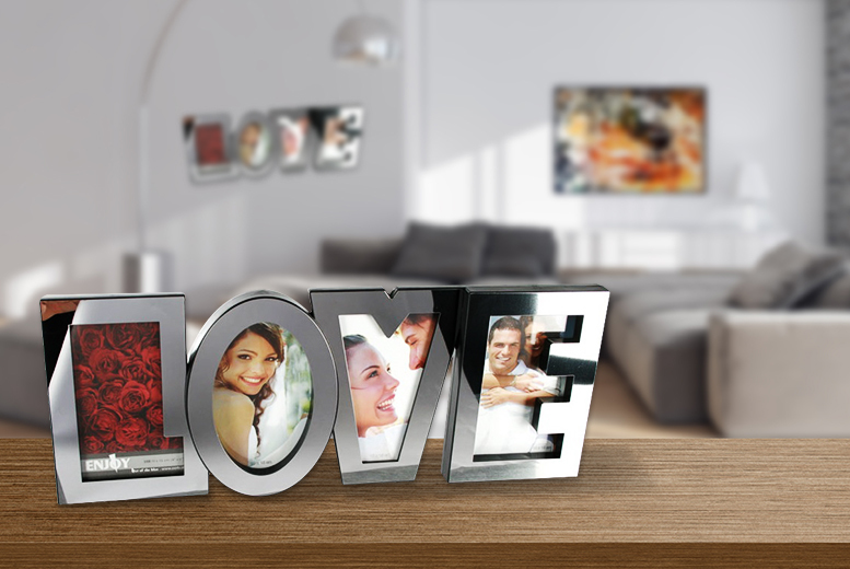 £6.99 instead of £24.99 (from London Exchainstore) for a stainless steel 'LOVE' picture frame - save 72%