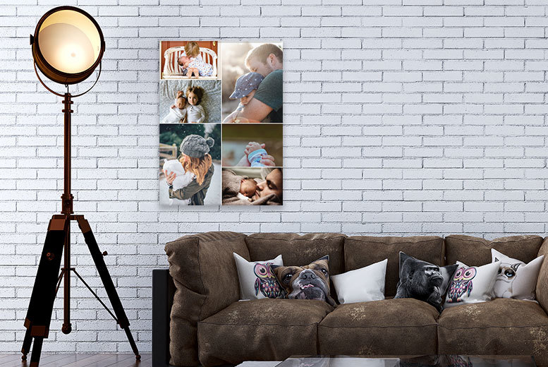 £8.95 instead of £83.05 (from Discount Photo Prints) for a personalised A2 collage canvas print - save 89%