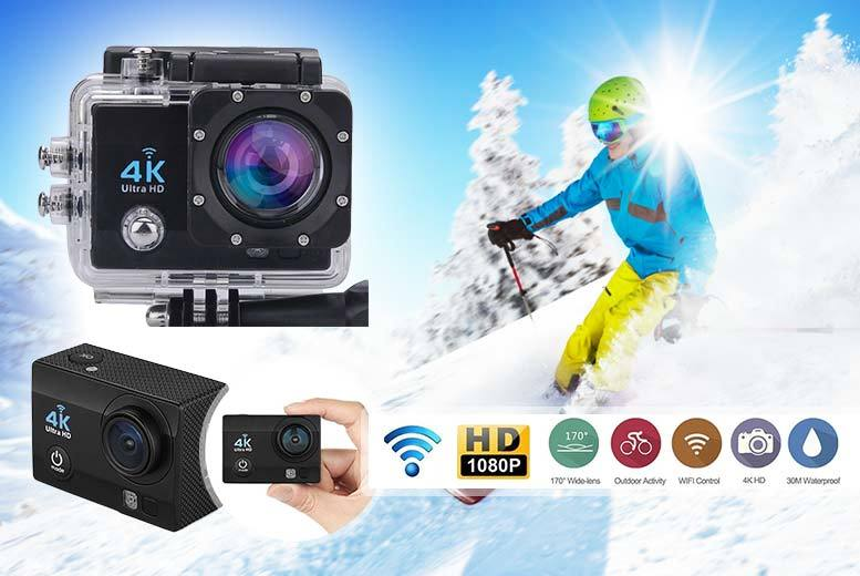 """£39.99 instead of £195 (from TLD Retail) for a 4K 2"""" ultra HD sports action camera - capture every moment and save 81%"""