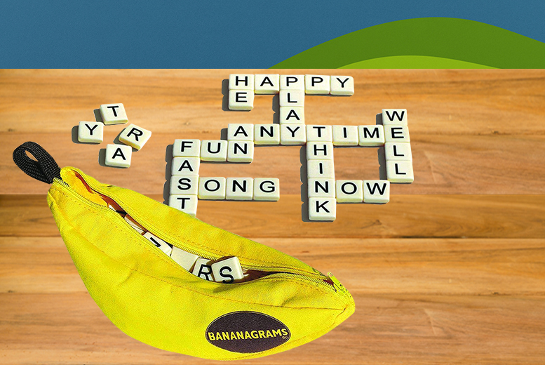 £9.99 instead of £17 for a Bananagrams word puzzle game from Wowcher Direct - go bananas and save 41%