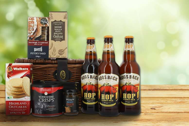 £24.50 instead of £49.99 for a Valentine's beer hamper for men from First4Hampers - save 51%