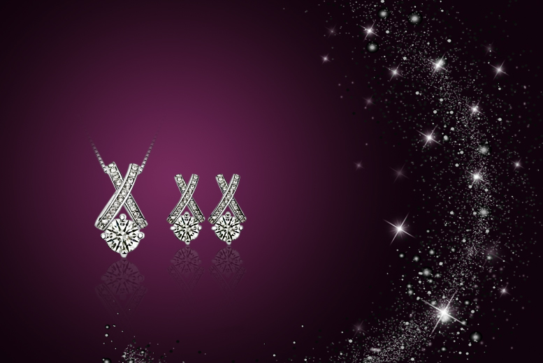 £12 instead of £59.99 (from Simply Jewellery) for a Cupid's arrow pendant and earring set made with Swarovski Elements - save 80%
