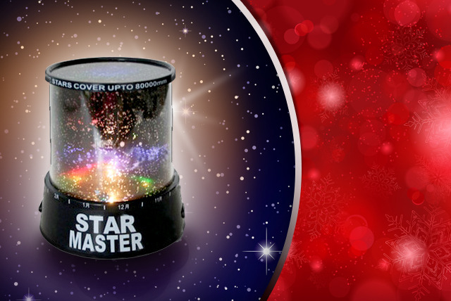 £7 instead of £19.99 (from Bargain Store) for a colourful stars laser projector - save an astronomical 65%