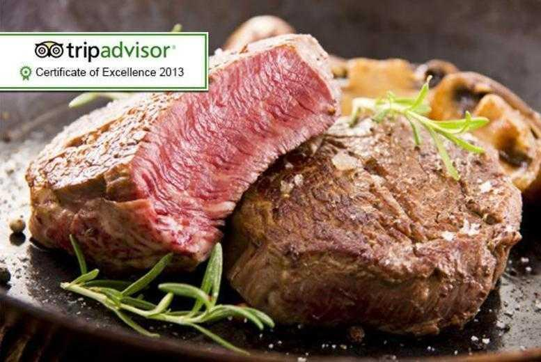 £29 for a chateaubriand steak meal for 2 including a Champagne cocktail each, or £58 for 4 people at The Hale Kitchen & Bar - save up to 63%