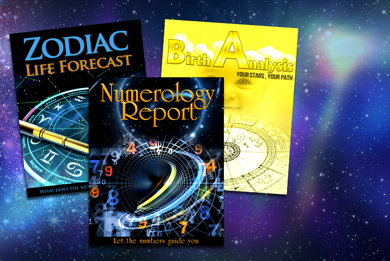 £4.99 instead of £63.37 (from Stellar Astrology) for an astrology 'life forecast', natal 'birth report' and 'numerology report' - save 92%