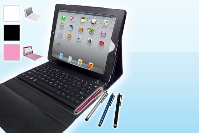 £19.99 instead of £63.98 (from Time2) for a PU leather iPad case with integrated Bluetooth keyboard and touchscreen stylus pen – save 69%