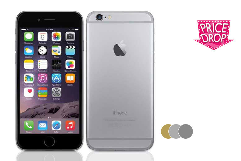 £314 (from Hand Tec) for an unlocked iPhone 6 with 64GB of memory - choose either gold, silver or space grey!