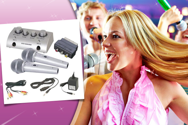 £24.99 instead of £89.99 (from FabSave) for a home karaoke kit with 12 bonus DVDs containing 240 songs - save 72%