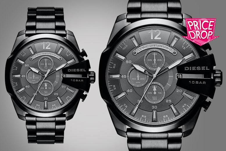 Men's Black Diesel Mega Chief Watch
