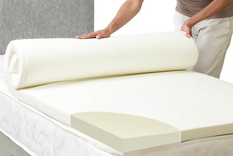 Memory Foam Mattress Topper with Washable Cover