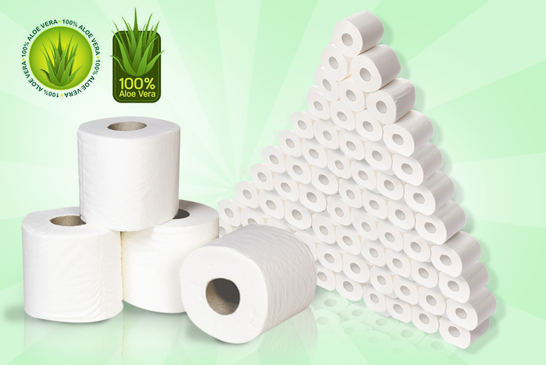 £10.99 instead of £22 (from Ckent) for 45 aloe vera toilet rolls - save 50%