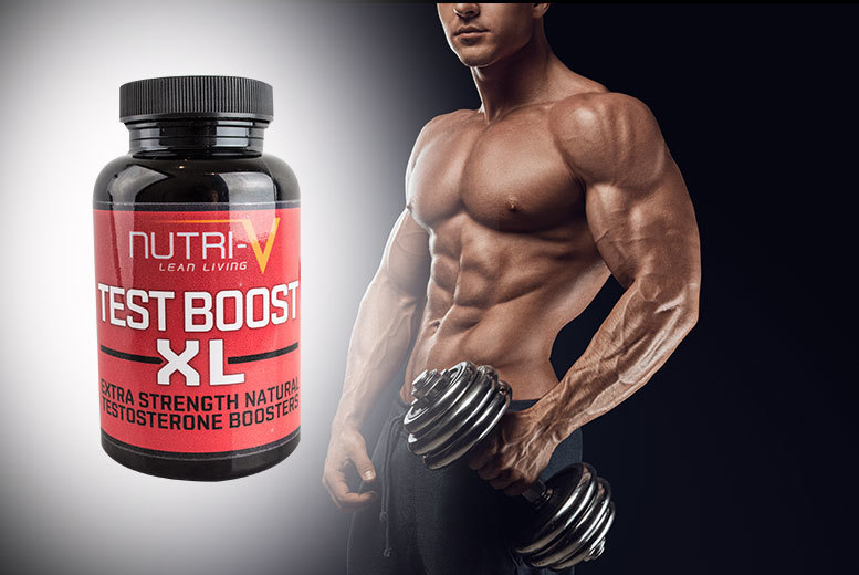£7 instead of £30 (from Nutri-V) for a one-month* supply of XL 'Testosterone Booster' capsules, £17 for a three-month* supply - save up to 77%