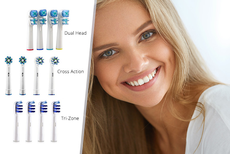 £4.99 (from Ugoagogo) for an eight-pack of Oral B compatible toothbrush heads