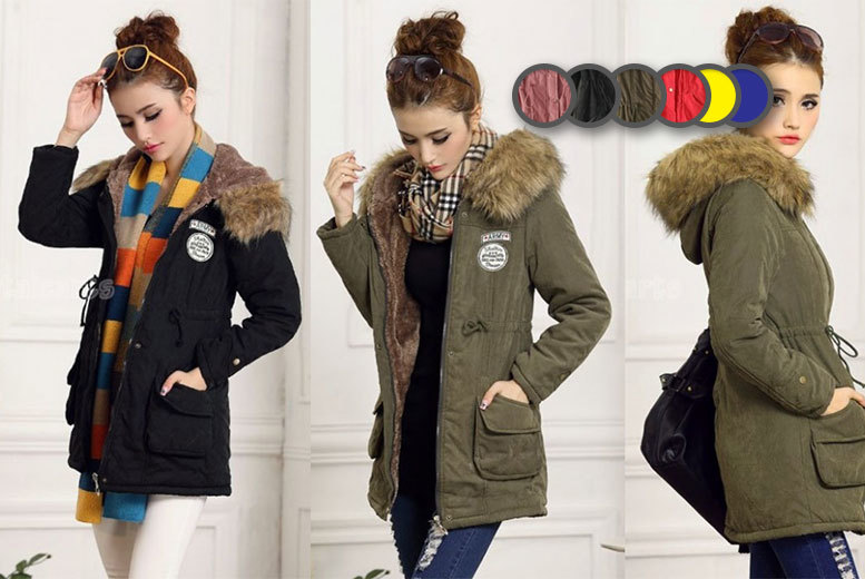 £19 instead of £64.99 (from EFMall) for a women's fleece-lined parka coat - choose from three colours and save 71%