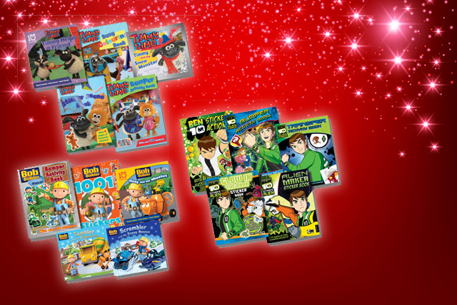 £8.99 instead of £18.95 (from Kids IQ Books) for 5 activity & sticker books from a choice of kids TV characters inc. Bob the Builder - save 53%