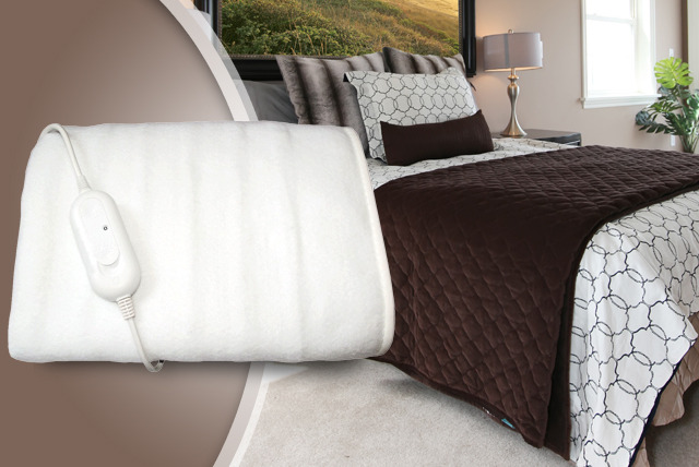£15.99 (from Better Bargains) for a double electric blanket, or £18.99 for a king sized blanket