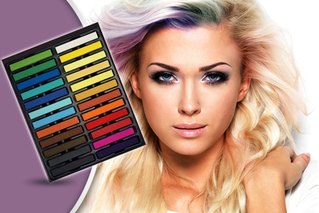 £8.99 instead of £39.99 (from 46FortySix) for a pack of 24 coloured hair chalks - get funky and save 78%