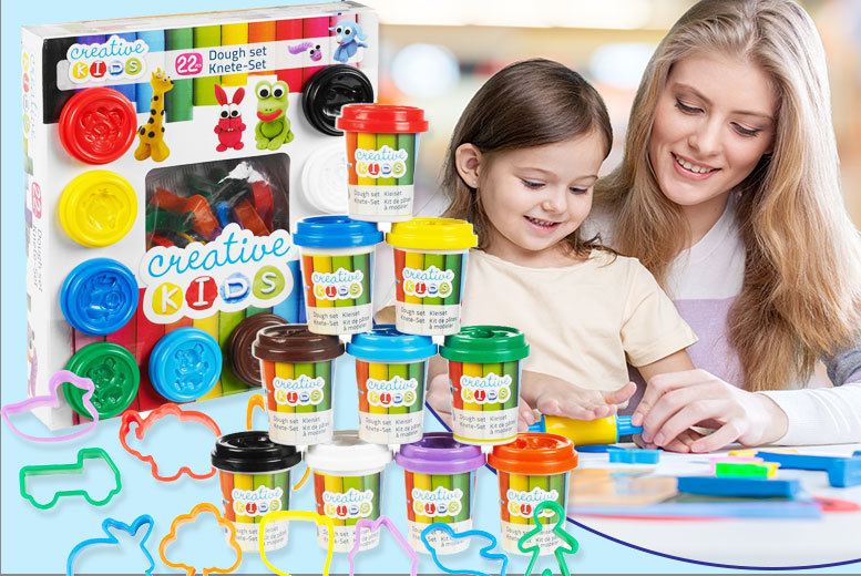 £6.98 instead of £29.99 (from Zenith) for a creative kids 22-piece play dough set - get mucky and save 77%