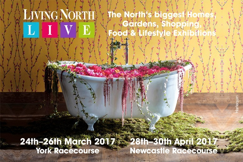 £7 instead of £10 for two tickets to The Living North Spring Fair at York Racecourse or Newcastle Racecourse - save 30%